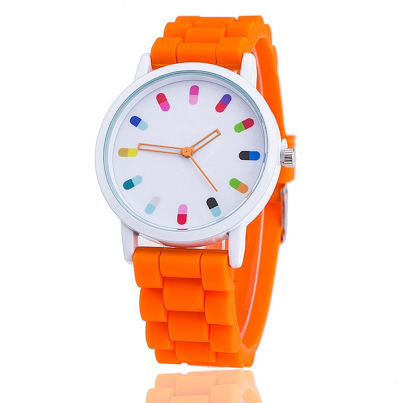 Montre Femme Hot Selling Fashion Candy Color Silicone Quartz Geneva Women Wrist Watch Horloges Vrouwen Gift 2017 women watch