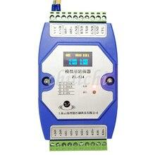 4 20mA إلى RS485 4 مدخلات تناظرية وحدة اكتساب 0 10 V عالية الدقة MODBUS RTUwith شاشة الكريستال السائل