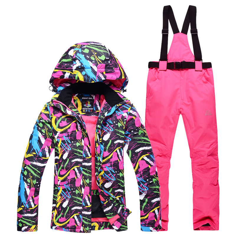 snow suit sets Outdoor sports woman snowboarding clothes Waterproof Warm single Skiing winter coat ski suit set jackets + pants phibee free shipping winter outdoor children set windproof ski jackets pants kids snow sets warm waterproof skiing suit for boys