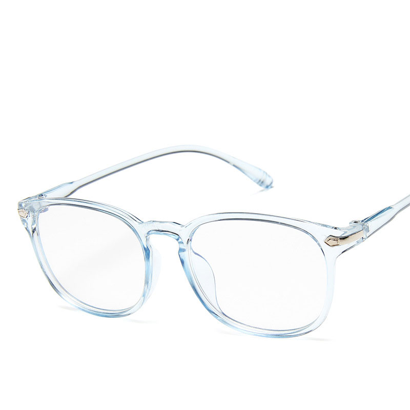 2019 New Retro Trend  Fashion Glasses Transparent Color Light Comfortable Men And Women Flat Mirror Multicolor High-end Design