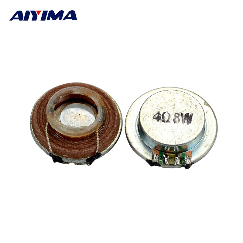 цена AIYIMA 2pcs 35mm plane Vibration Speaker Resonance Speaker 8 Watts 4 Ohms