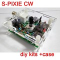 S-PIXIE CW QRP Shortwave Ham Amateur Radio Transceiver 7.023MHz Diy Kits + Case
