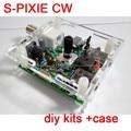 S-PIXIE QRP CW Ham Radioaficionados Transceptor 7.023 MHz de Onda Corta Diy Kits + Caso