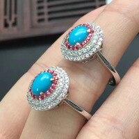 Argento sterling 925 Natural US turchese anello per le donne gem stone size 5mm libero nave fabbrica direttamente