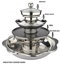 Thickening stainless steel steam hot pot soup multi-layer casserole