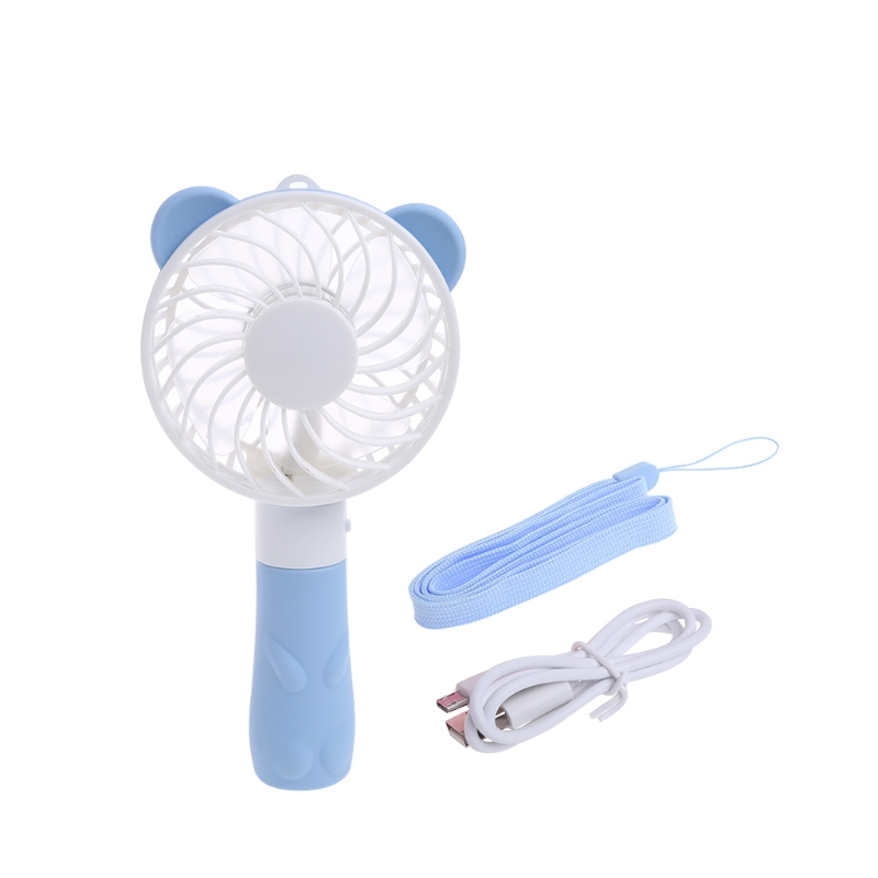 Portable Hand Fan Battery Operated USB Power Handheld Mini Fan Cooler with Strap mini handheld battery operated sewing machine for kids
