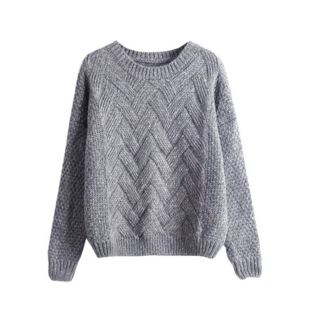 Winter Women Sweaters Pullovers O-neck Knitted Jumper Coat Casual Knitwear