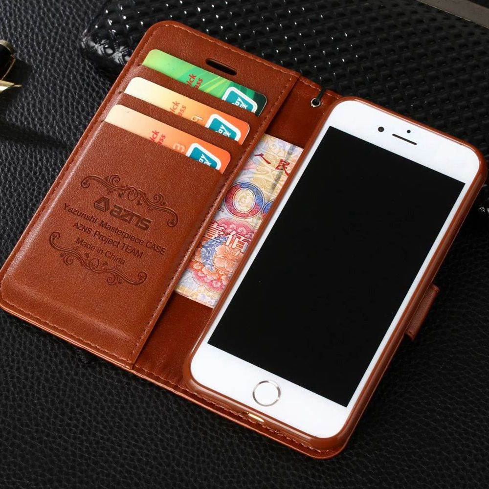 Vintage Flip Stand PU Leather Wallet Iphone 7 7Plus 8 8Plus Luxury Phone Cover For Iphone 6 6S Plus X Xs Max XR