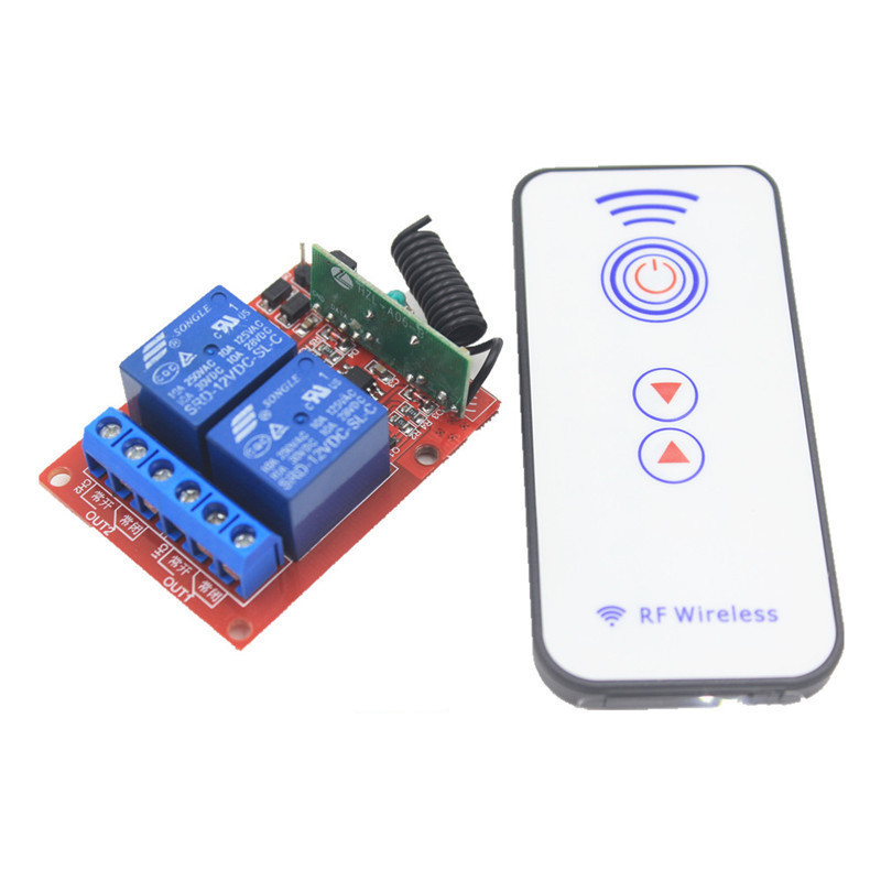 2CH 5V 12V 24V 433mhz RF Wireless Remote Control Switch Receiver 10A 1000W Self-latched Relay Module For Light Garage Door high quality 12v 24v 2ch rf wireless remote control lighting switch receiver with 2ch relay for smart home 315mhz 433 92mhz