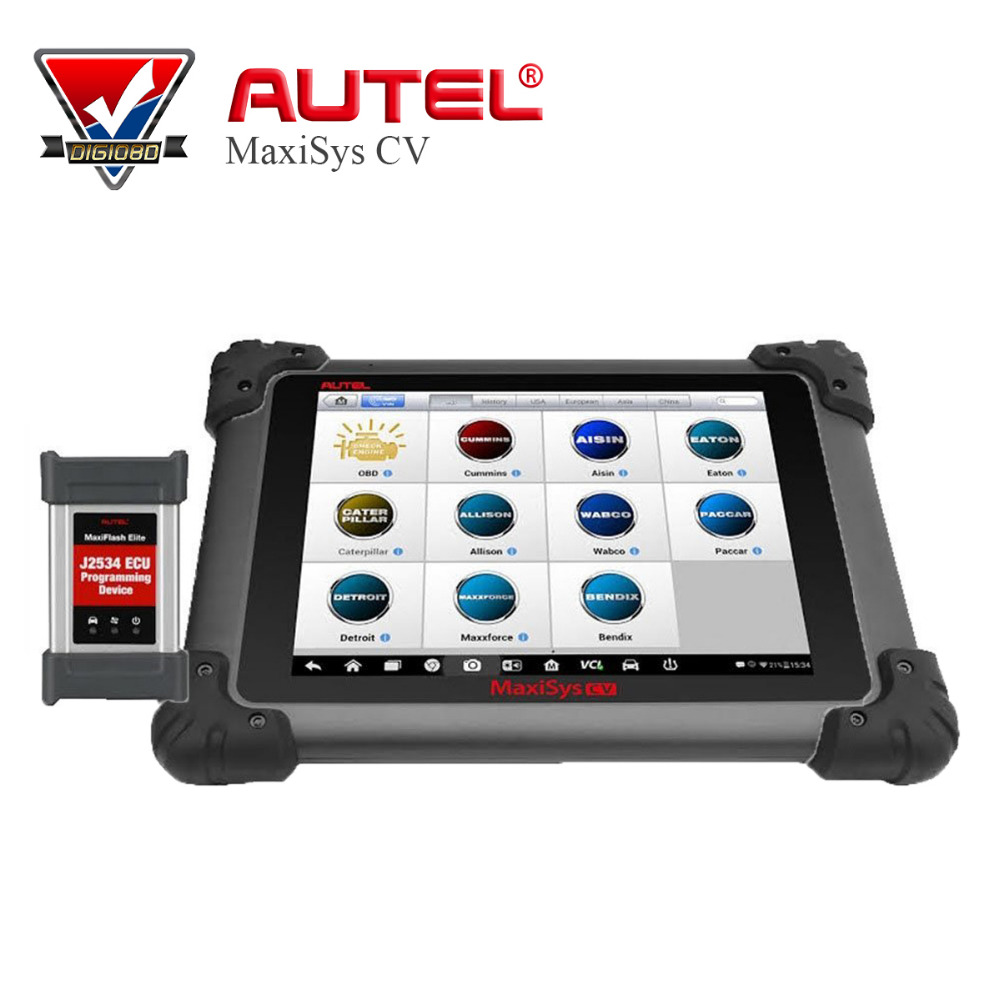 2017 Newest Original AUTEL MaxiSys CV HD Scanner Free Online Update Full System ECU Coding Diagnostic Tool for Heavy Duty