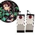Wholesale Demon Slayer Cosplay Prop Kimetsu no Yaiba Tanjirou Kamado Earrings Anime Cosplay Accessores 1 Pair