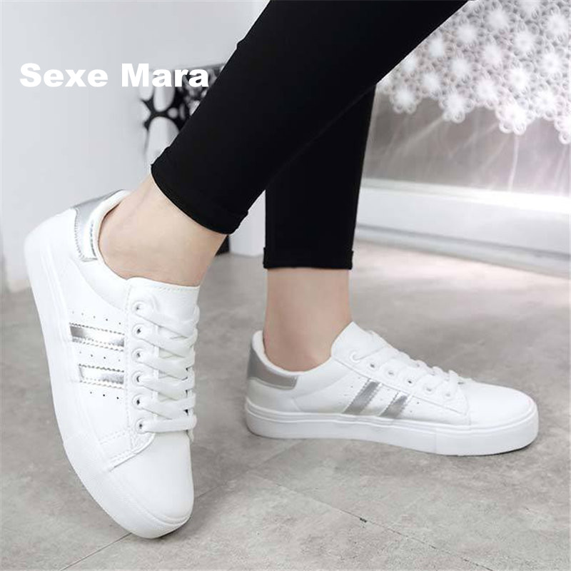 14f2b57a Shoes Men leather 2017 Couple fashion wife casual shoes Low help white  black flat Leisure female