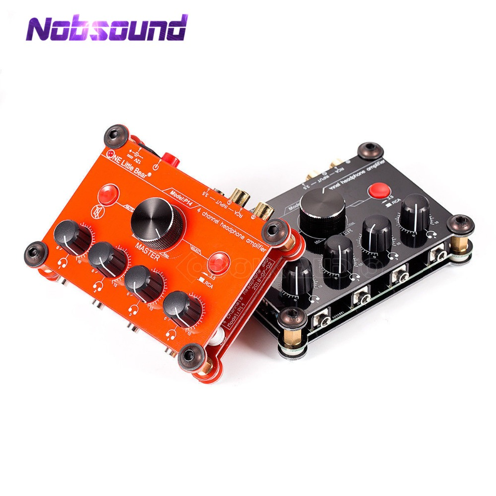 2018 Latest Little Bear P14 Mini Ultra-Compact 4-Channel Stereo Headphone Amp Studiophile Amplifier Black & Red цена