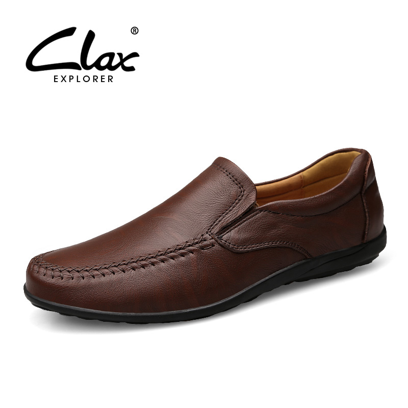 Clax Men Soft Leather Loafers 2018 Spring Summer Male Casual Shoes Genuine Leather Moccasin Flat Driving