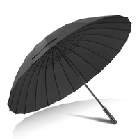 High Quality 24 Bone Umbrella Man Women Long Handled Manually Windproof Outdoor Big Sunny Rain Umbrella