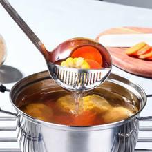 CHANOVEL Stainless Steel Multi-function Colander Filter Oil Spoon Colander Scoop Kitchen Vegetable Strainer