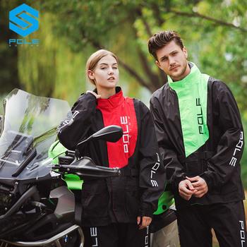 Motocykl płaszcz przeciwdeszczowy sport walking wspinaczka kurtka mężczyźni motocykl wodoodporny garnitur płaszcz przeciwdeszczowy garnitur motocykl płaszcz przeciwdeszczowy tanie i dobre opinie POLE-RACING MIRCO FIBER