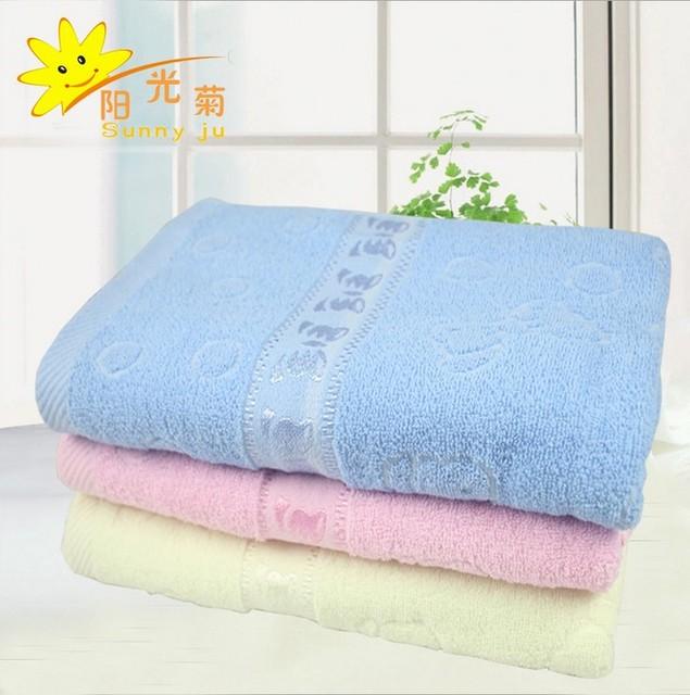 2015 Children's cotton cloth bath towel baby wrapped in a bath towel bath supplies cotton baby bath towel 70 * 140