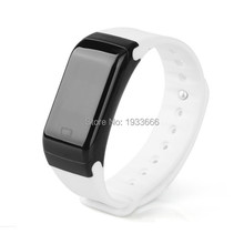 Digital bluetooth smart wristbracelet H3, waterproof heart rate and running tracker, touch screen, vibration on coming call