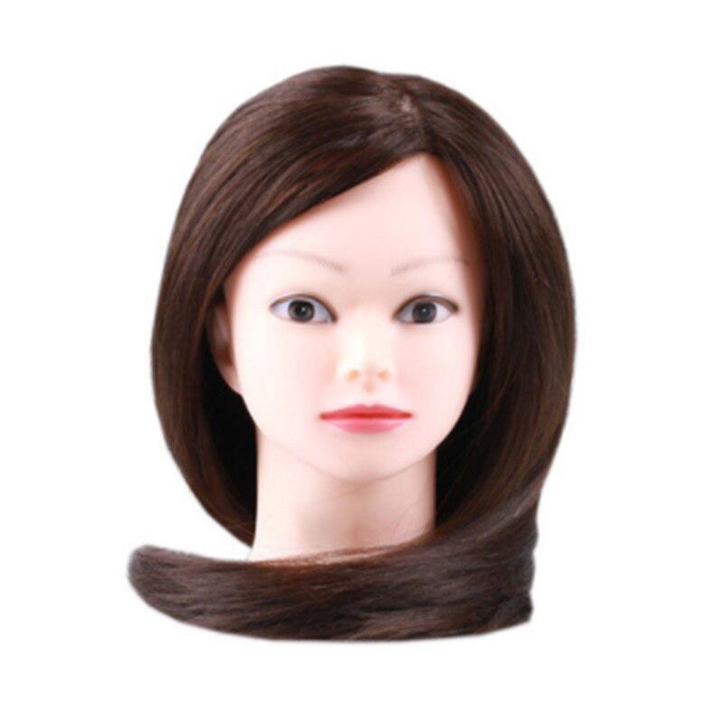 CAMMITEVER Parrucchiere Bambole Testa Lunghi Capelli Umani Formazione Testa Mannequin Femminile Mannequin Parrucchieri Styling Professionale
