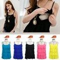 Уход Топ без рукавов Грудное Вскармливание Жилет топы лето одежды для беременных женщин 5 цвета