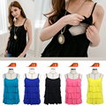 Nursing Top sleeveless Breastfeeding Vest  Maternity tops summers clothes for pregnant women  5 colors