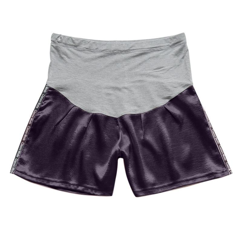 Женские короткие штаны для беременных с беременным шорты, повседневные однотонные штаны с высокой талией для беременных# p40US - Цвет: Черный
