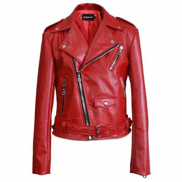 2016 Cotton Limited Real Men Leather Jacket Erkek Deri Ceket Fashion Custom Europe Simple Punk Locomotive Mens Zipper Jackets
