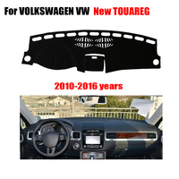 Car Dashboard Covers For VOLKSWAGEN VW New Touareg 2010 2016 Left Hand Drives Dashmat Car Pad