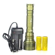 25 W 12000 Lúmenes Buceo 100 M 5x XM-L L2 Lanterna LED Linterna Antorcha 5 * L2 Diver + cargador $ number x Batería Recargable 26650