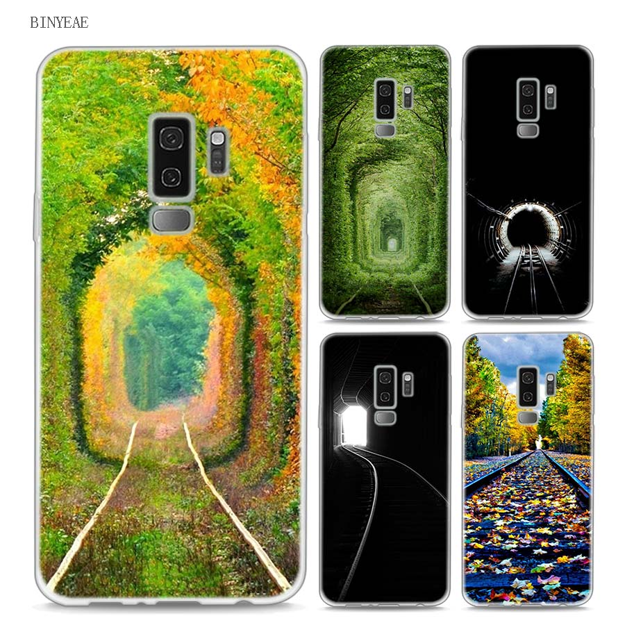 BINYEAE The railway A train for spring Style Clear Soft TPU Phone Cases For Samsung Galaxy S9 S8 Plus S7 S6 S5 S4 Mini Edge