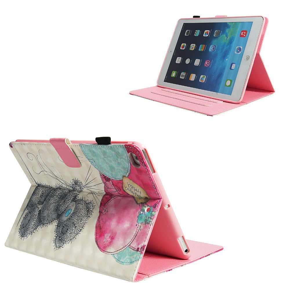 Globo oso patrón PU y PC con ranura para tarjeta y el caso de la cubierta para iPad 2017 de 2018 de 9,7 pulgadas aire 12 Pro 9,7, 10,5 Mini 1234 2019 iPad 234