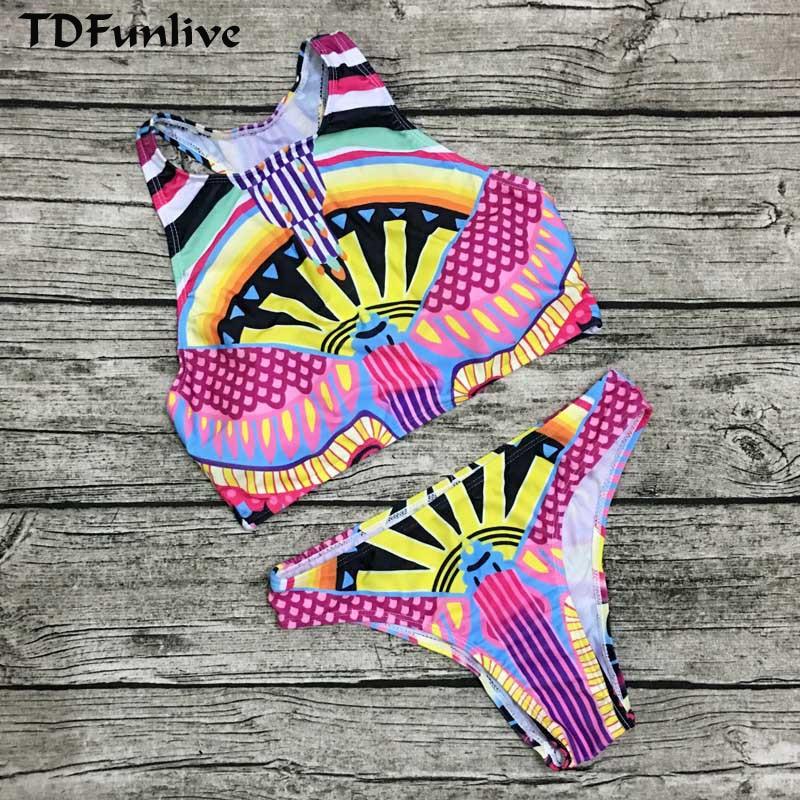 TDFunlive Håndlaget Sexy Heklet Bikinisett Damer Brazilian Push Up - Sportsklær og tilbehør