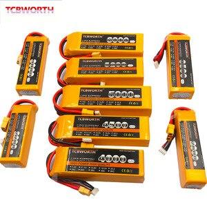 Image 1 - 4S akumulator do RC LiPo 14.8V 3000 3300 3500 4200 5200 6000mAh 25C 35C 60C dla zdalnie sterowanego samolotu samolot bezzałogowy samochodów łódź 4S baterie LiPo
