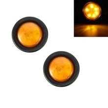 2 pcs Car LED Round Clearance Lights Side Marker Lamp for Automobiles Truck Trailer 12V HEHEMM цена