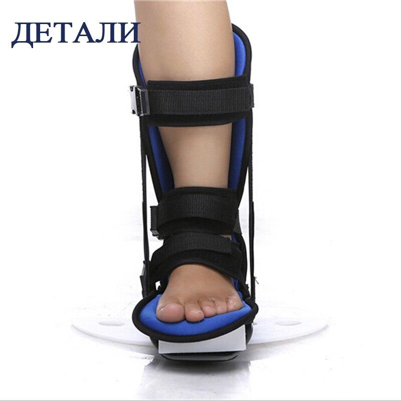 Kostenloser Versand Schwarz Professionelle verdrehsicherung Ankle Schützen Unterstützung Fuß Orthese Fuß Orthesen Schmerzen Bruch Rehabilitation - 4