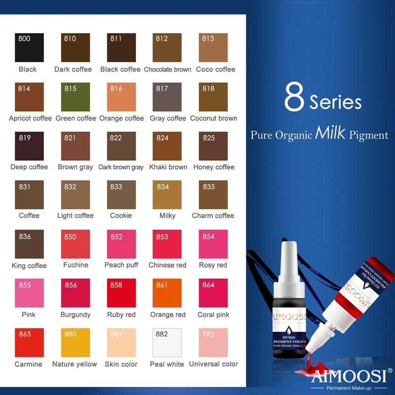 Gratis frakt 32 flasker tatovering mikro permanent makeup pigment for - Tatovering og kroppskunst - Bilde 6
