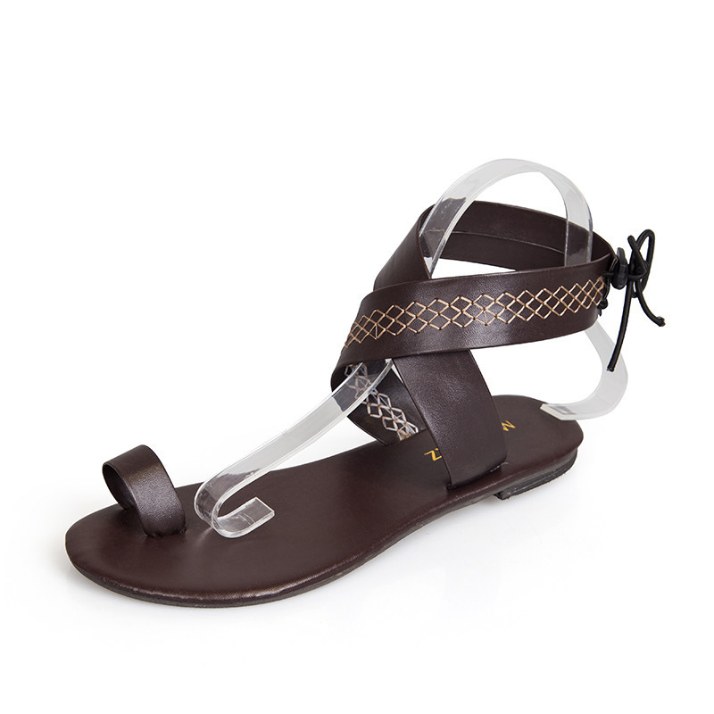 Gladiator sandals women shoes summer new female shoes sandals wild flat Roman style comfortable breathable sandals women shoes breathable women hemp summer flat shoes eu 35 40 new arrival fashion outdoor style light