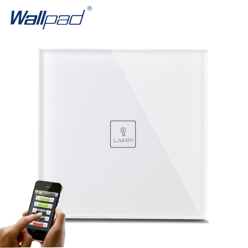 App Wireless WIFI Control Smart Home Wallpad White Crystal Switch 110-250V 1 Gang Touch and Remote WIFI Control Light Switch original yeelight ceiling light lamp ip60 dustproof wifi and bluetooth dual wireless smart mi home app remote control