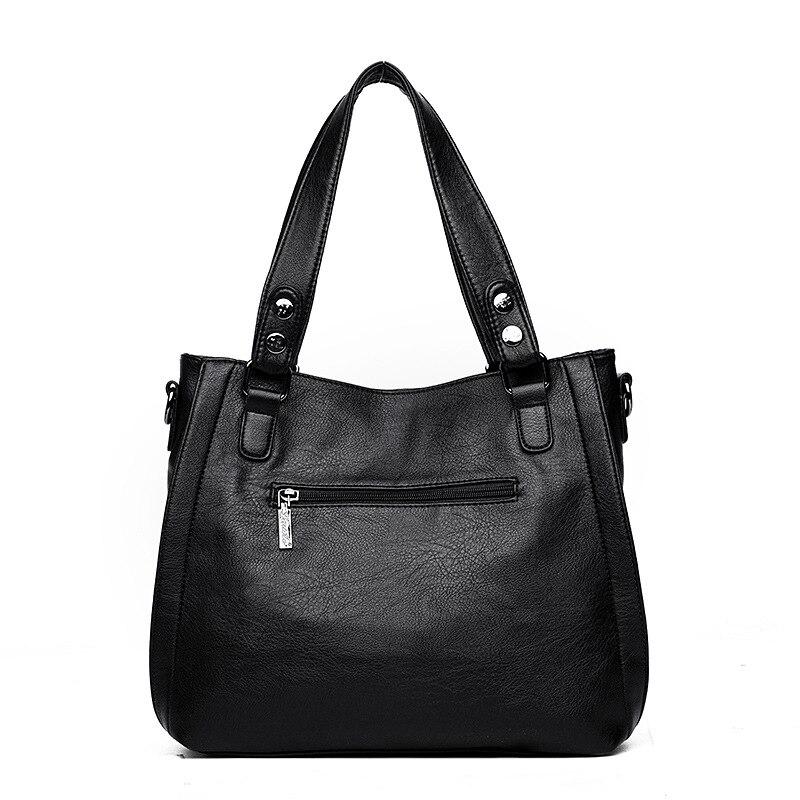 Patchwork Shoulder CrossBody Bags Women's PU Leather Tote Bag Women's Shoulder Bags