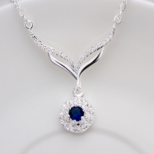 2014 Women's or Lady Fashion 925 sterling silver jewelry Necklace pendants Link Chains necklace