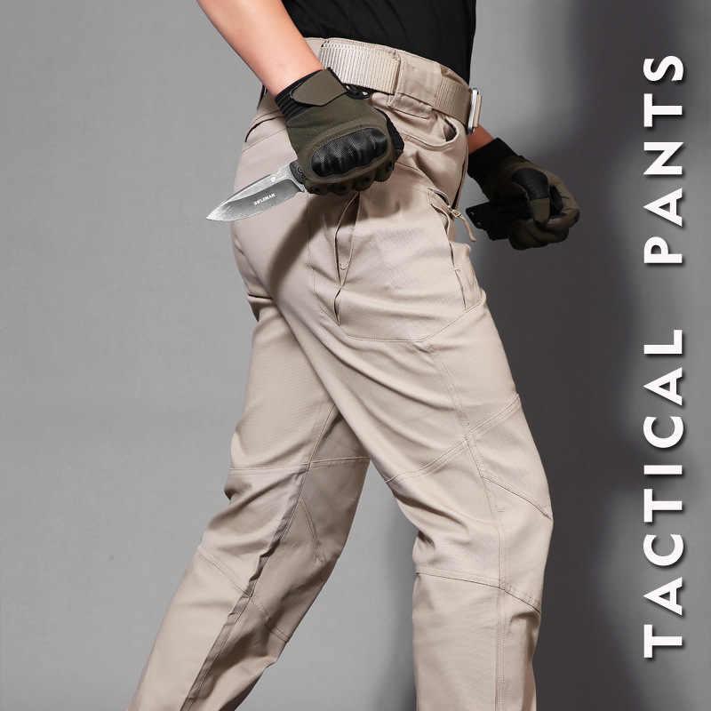 IX8, bawełna, wodoodporny, taktyczne spodnie w stylu cargo męskie silm dorywczo spodnie męskie spodnie wojskowe armii spodnie damskie Moto biker safari mężczyzn