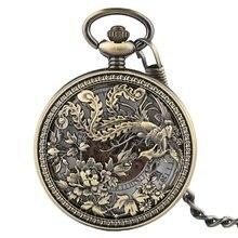 Винтажные часы в стиле стимпанк с резьбой по цвету Механические