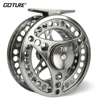 Goture 3/4 5/6 7/8 9/10 WT Fly Fishing Reel CNC Machine Cut Large Arbor Die Casting Aluminum Fly Reel with bag - DISCOUNT ITEM  50% OFF All Category