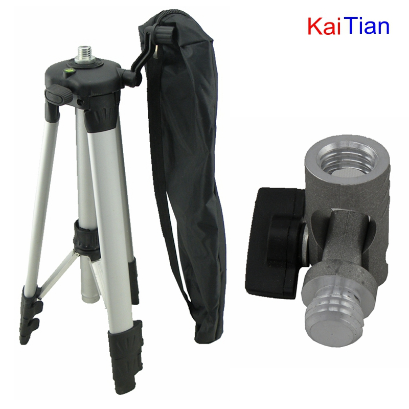 Kaitian Tripod and Angle Adjustment Bracket for 635nm Laser Level Extension Rod Adjustable Height Plus Additional Detachable aluminum tripod grade rod inches combo for laser level auto level transit a4