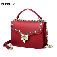 REPRCLA Fashion Brand Women Shoulder Bag Chain Strap Flap Messenger Bags Designer Handbags Buckle Crossbody Women