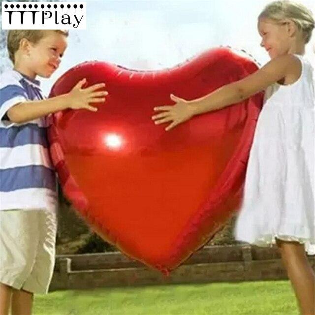 Wedding Ballon Supersize 75cm Red Heart Shape Foil Balloon Wedding Decoration Say Love Marriage Inflatable Party Ballon Supplies