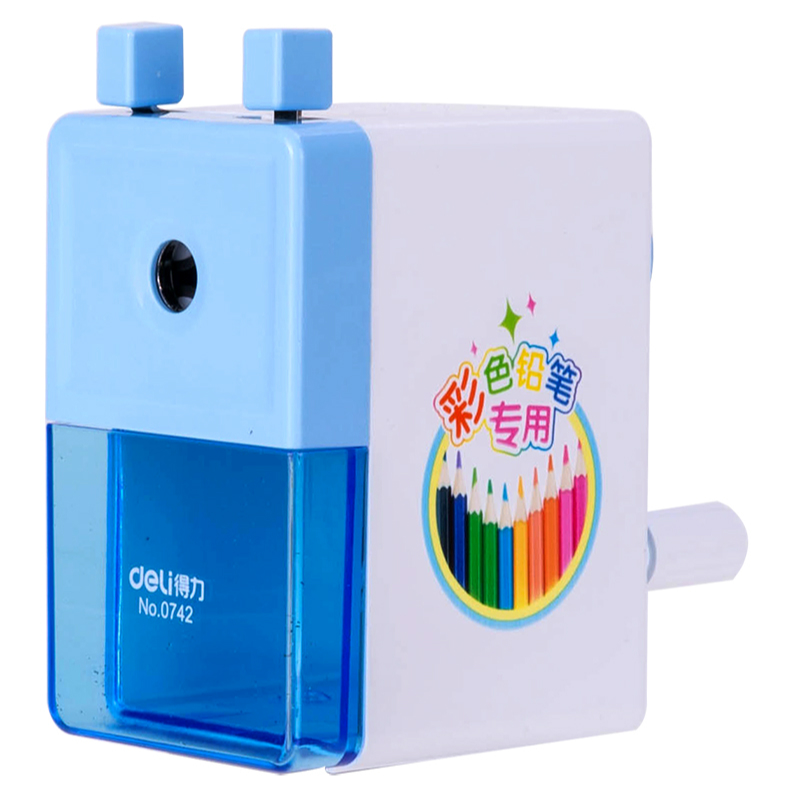 Deli Practical Pencil Sharpener for Students Kids Lovely Gift Pink/light Blue Pencil Sharpener for Colorful Pencil School/HomeDeli Practical Pencil Sharpener for Students Kids Lovely Gift Pink/light Blue Pencil Sharpener for Colorful Pencil School/Home