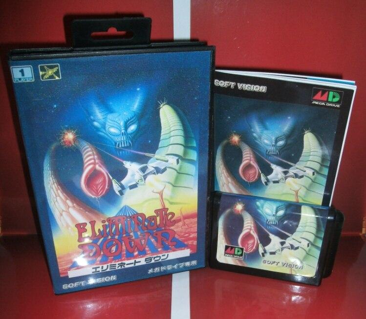 Juegos de Sega tarjeta de Eliminar con caja y manual para Sega MegaDrive Consola