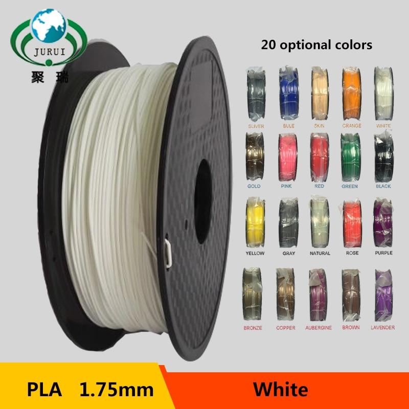 Prix pour En gros 1.75mm PLA Filament 1 kg 3D Imprimantes Filament 20 Couleurs respectueux de l'environnement matériel